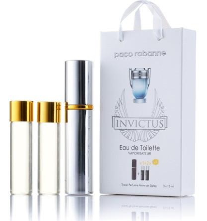 Міні-парфуми з феромонами чоловічий PACO RABANNE Invictus 3х15 мл