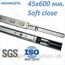 Напрямна 45x600 мм. з доводчиком Movimento N-Pro