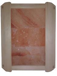 Ограждение угловое GREUS с гималайской солью для бани и сауны