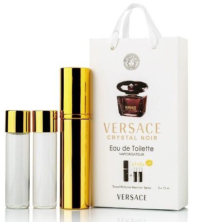 Versace Crystal Noir edp 3x15ml міні парфуми в сумочці