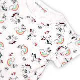 Детская белая футболка для девочки 9-12мес Minoti, фото 2