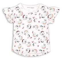 Детская белая футболка для девочки 9-12мес Minoti