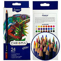 Карандаши цветные MARCO CHROMA 24 цвета