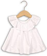 Белая блуза летняя детская для девочки 12-18 мес Minoti