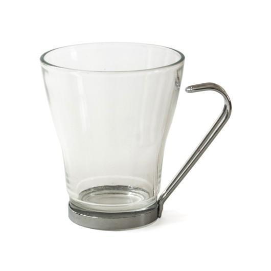 Чашка стеклянная с подстаканником VENERA 250 мл, для печати логотипа