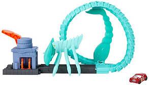 Трек Хот Вилс Атака ядовитого скорпиона Mattel Hot Wheels Toxic Scorpion Attack