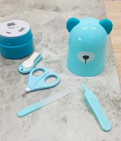 Дитячий манікюрний набір у футлярі - іграшці Ведмедик блакитний