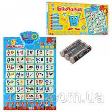 Детский обучающий плакат Limo Toy 7031 Букварик. укр.яз. буквы, слова, цифры, цвета, скороговорки, песня