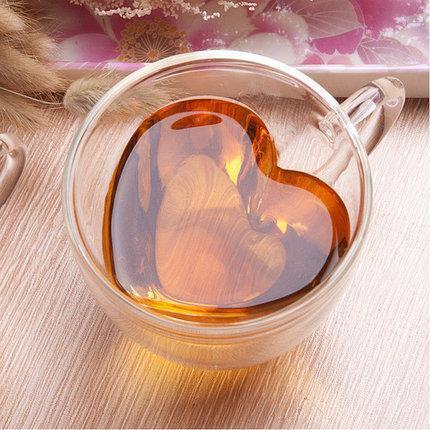 Чашка с двойными стенками DS Сердце с двойным дном 220 мл