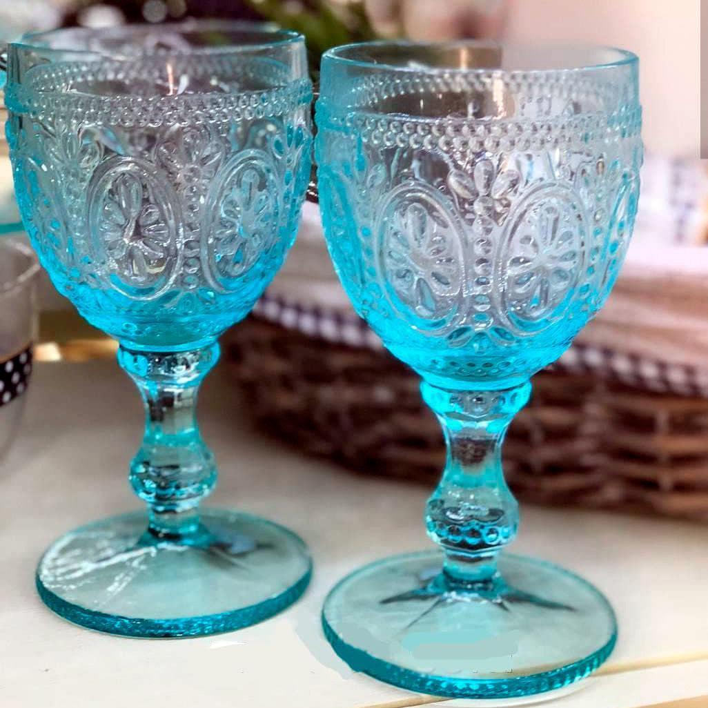 Набір келихів DS Royal Blue кубки для вина 300 мл 6 шт Блакитний