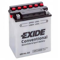 Аккумулятор мото EXIDE 12 V 14 Ah 145 A (-/+) 134x91x166 мм (EB14L-A2 / YB14L-A2)