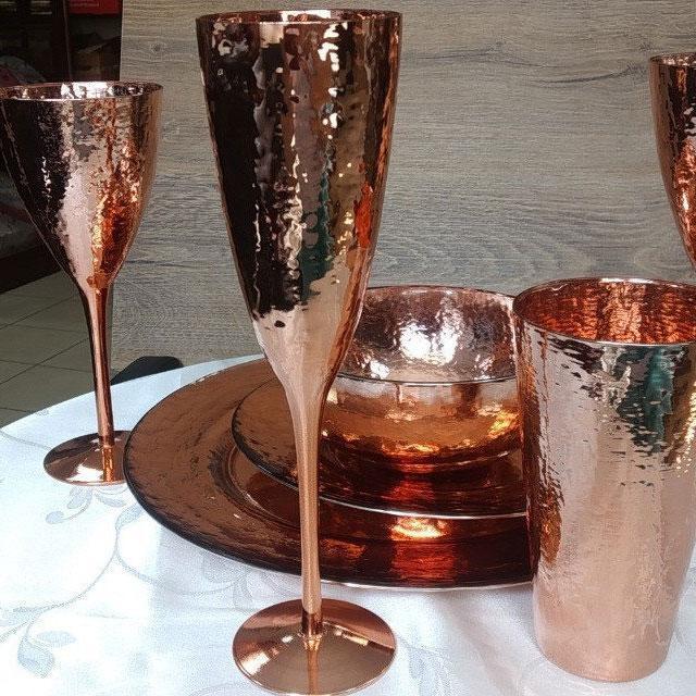 Набір келихів DS Rose-Hammerd для шампанського 250 мл 4 шт Золотий