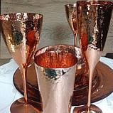 Набір келихів DS Rose-Hammerd для шампанського 250 мл 4 шт Золотий, фото 2