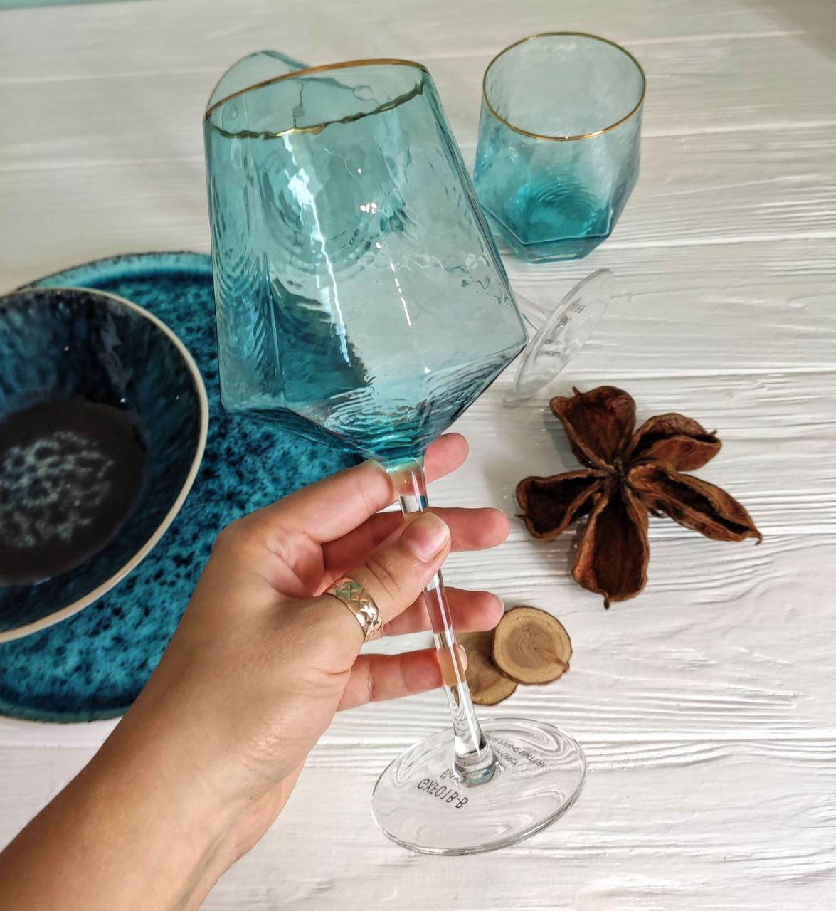 Келих для вина DS Turquoise 600 мл Бірюзовий 1 шт
