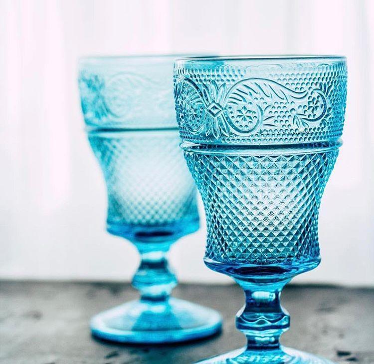 Набір келихів DS Bonna Blue кубки для вина 250 мл 6 шт Блакитний