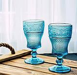 Набір келихів DS Bonna Blue кубки для вина 250 мл 6 шт Блакитний, фото 3