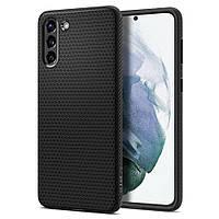Чехол Spigen для Samsung Galaxy S21 Plus - Liquid Air, Matte Black (ACS02386)
