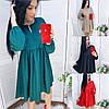 Р 42-52 Вільне плаття з високою талією Батал 23510-1