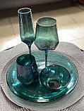 Бирюзовый стакан DS Dark Turquoise для виски или сока 450 мл, фото 3