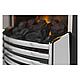 Пристенный каминокомплект IDaMebel Gemma Brown Flagstaff эффект пламени со звуком и обогревом, фото 2