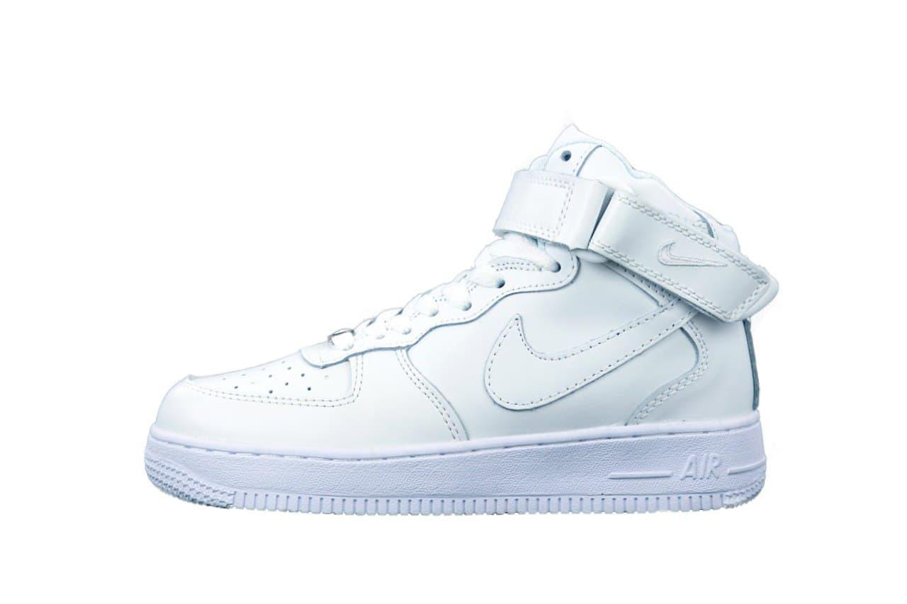 Мужские кроссовки Air Force 1 Mid All White