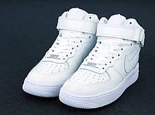 Мужские кроссовки Air Force 1 Mid All White, фото 2