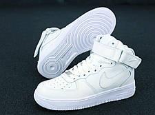 Мужские кроссовки Air Force 1 Mid All White, фото 3