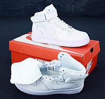 Чоловічі кросівки C2H4 x Nike Air Force 1 Mid Reflective 3M Black White, фото 3