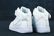 Женские кроссовки Air Force 1 Mid All White, фото 2