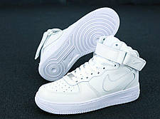 Женские кроссовки Air Force 1 Mid All White, фото 3