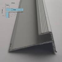 Профіль кутовий зовнішній на східці для пвх - покриттів товщиною 5 мм Срібло 2,7 м
