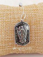 Серебряная иконка ангел хранитель