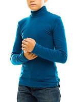 Гольф (водолазка) подростковый, вискоза, темный джинс Размер 40-44