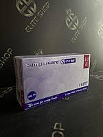 Хозяйственные синие перчатки SemperCare для работы по дому S М L 100% нитрил