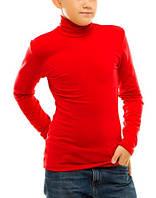 Гольф (водолазка) подростковый, вискоза, красный размер 40-44