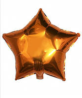 Шар звезда фольгированная, ОРАНЖЕВАЯ- 45 см (18 дюймов)