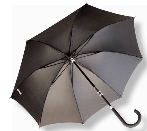 Мужской удобный механический зонт-трость EuroSCHIRM Kompliment W110, W110-KBL/SU15150 черный