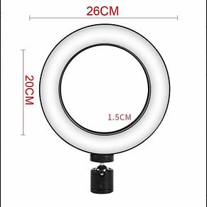 Кольцевая LED лампа 26 см 15 W с держателем для телефона селфи кольцо для блогера, фото 2