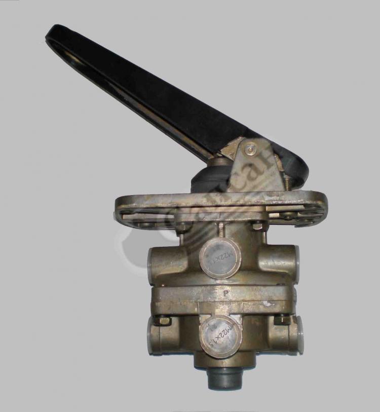 Кран тормозной  2-х секционный с педалью(ПААЗ). 11.3514308