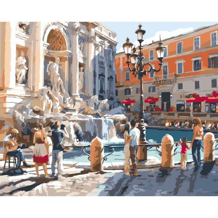Картина рисование по номерам Идейка Европейские каникулы КНО2152 40х50см набор для росписи, краски, холст,