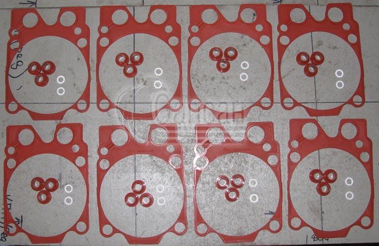 Ремкомплект двигателя РТИ из 3-х наименований (ЕВРО красный силикон) . 7405-1003000-51