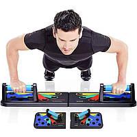 Доска для отжиманий Push Up Rack Board JT 006. Тренажер для упражнений., фото 1