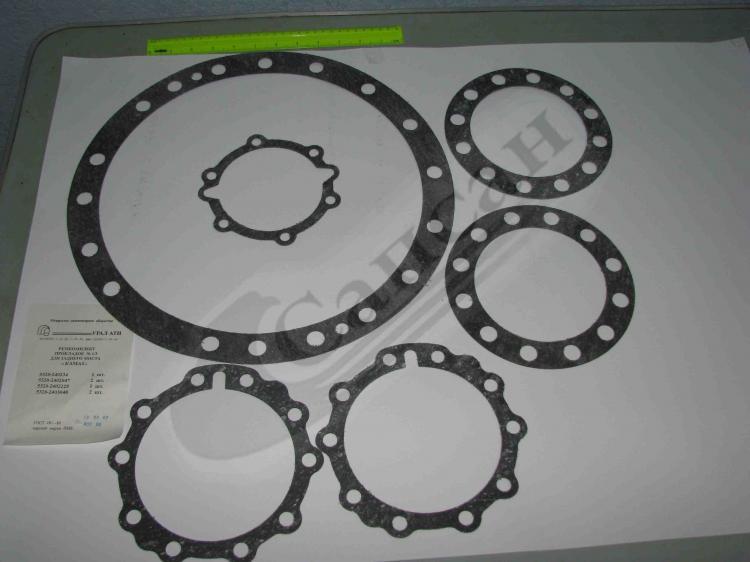 Комплект прокладок  редуктора  заднего  моста (паронит). 5320-2400000