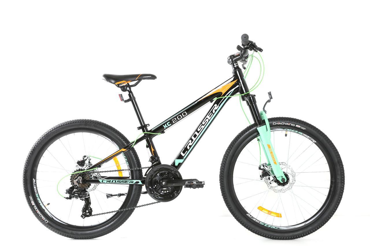 Спортивный одноподвесной подростковый алюминиевый велосипед Boy XC-200 24 дюйма 12 рама Кроссер