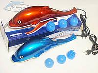 Ручной вибромассажер Дельфин Dolphin (синий)