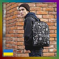 Мужской рюкзак спортивный городской для тренировок в стиле casual кэжуал с принтом в стиле Nike Найк