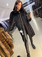 Жіноча довга шуба норкова розмір XL