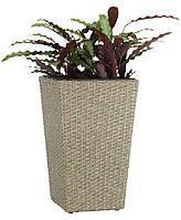 Горшок садовый коричневый (искусственный ротанг) высота 50см