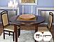 Стол круглый обеденный раскладной Лас-Вегас 1100х2100 / БИФОРМЕР