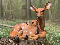 Садовая фигура Косуля с малышом.